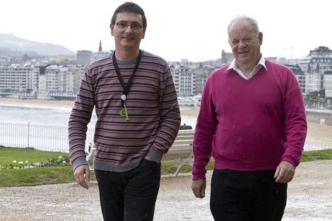 Andoni Aduriz con Martin Seligman en los 'Diálogos de Cocina' en San Sebastián. | Sara Santos