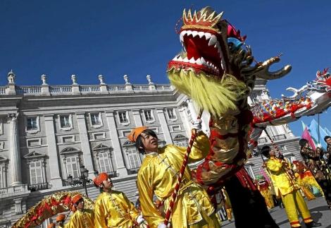 Celebración del año nuevo chino en Madrid.   Reuters