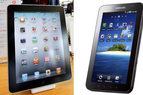 Imagen de un iPad y de una Samsung Galaxy.