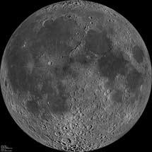 La Luna desde el espacio.   NASA/GFSC/Arizona St. Univ./ LRO