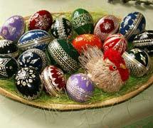 Huevos checos de Pascua.   Jan Kameníček