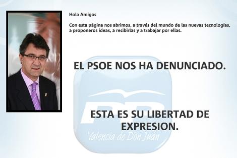 La web del PP de Valencia de Don Juan, rectificada.
