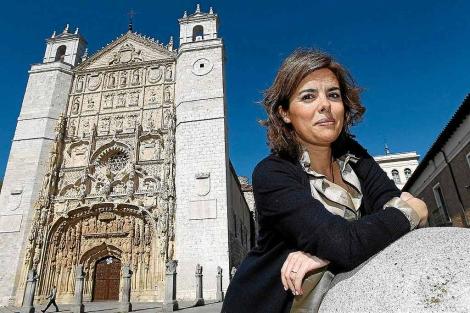 Soraya Saénz de Santamaría, en San Pablo. | Lostau