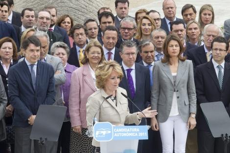 Aguirre presenta los candidatos para las elecciones de mayo.   Alberto Cuellar