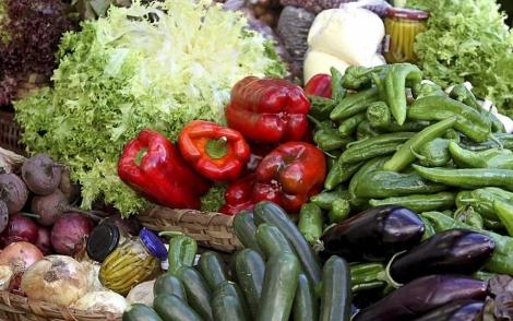 Muestrario de productos hortícolas con etiqueta ecológica. | Efe