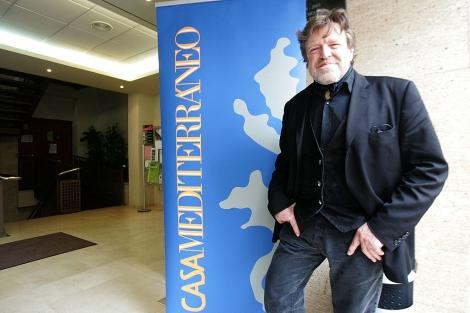 John Perry Barlow en el encuentro de 'blogueros' del Mediterráneo.   Casa Mediterráneo