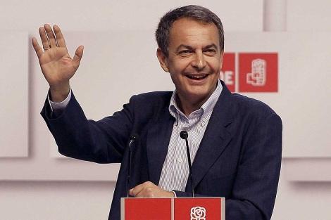 Zapatero, en el mitin de Tenerife. | Efe