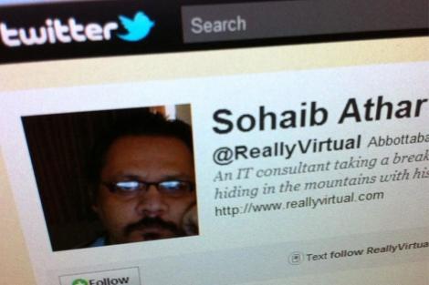 Twitter de Sohaib Athar, que dio la 'primicia' de la operación en Pakistán. (Reuters)