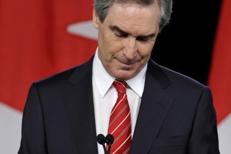 El líder liberal Michael Ignatieff tras los comicios generales en Toronto. | Reuters