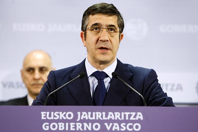 El lehendakari del Gobierno vasco, Patxi López, en Vitoria. | Efe