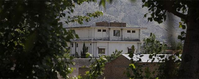Vista general del complejo residencial en el que Bin Laden vivió durante seis años. | Reuters