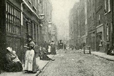 Una imagen del Este de Londres, en el siglo XIX.