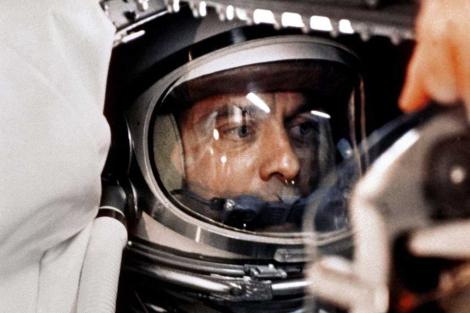 Alan Shepard a bordo de la cápsula Freedom 7, listo para el despegue. | AP.