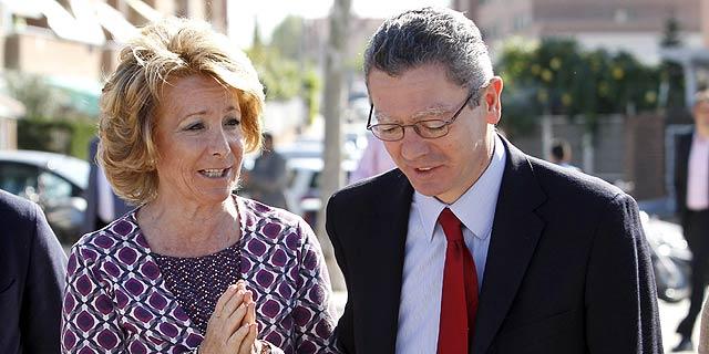 Aguirre y Gallardón, en un acto reciente. (Hidalgo)