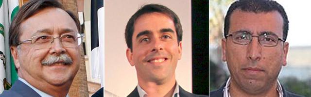 Juan Vivas (PP), José Antonio Carracao (PSOE) y Mohamed Alí (Caballas).