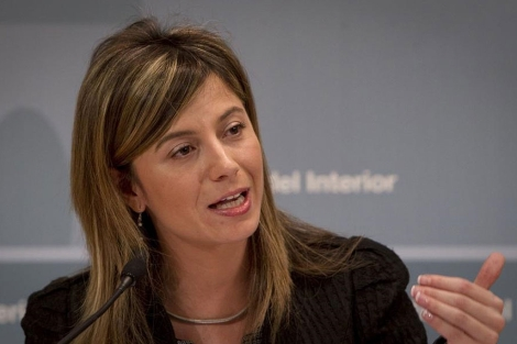 Bibiana Aído, durante una de sus comparecencias como ministra de Igualdad. | Alberto di Lolli