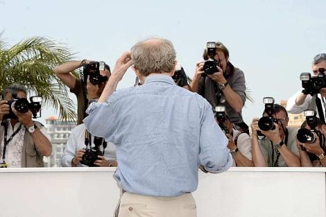 Woody Allen, esta mañana, en Cannes. | Efe