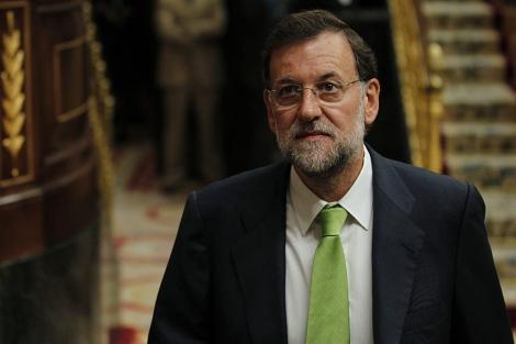 Rajoy en el Pleno del Congreso. | Reuters