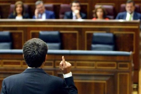 Zapatero, en una intervención en en Congreso. | Efe