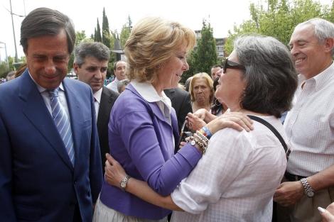 El candidato del PP a Alcobendas y Aguirre, tras los cinco minutos de silencio. | J. Barbancho