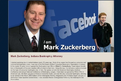 Pantalla de la página web 'iammarkzuckerberg.com'
