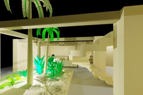 Recreación del jardín interior de la vivienda. | Elmundo.es