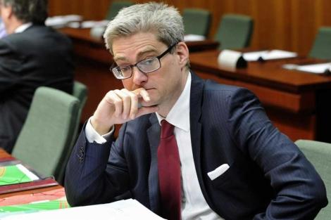 El ministro de Integración danés, Soren Pind, en Bruselas. | Afp