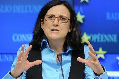 Cecilia Malmstrom. | AFP