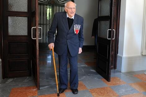 El padre Hermann Scheipers, superviviente de Dachau, en Granada. | Jesús G. Hinchado