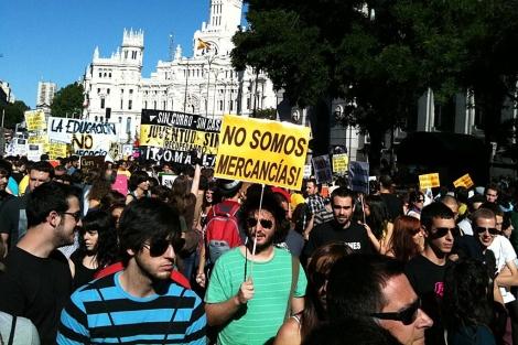 Una foto subida por un manifestante a Twitter.