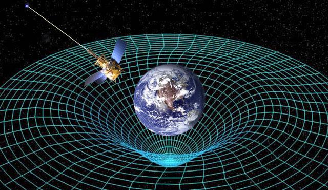 Recreación de la Gravity Probe B en el espacio-tiempo distorsionado por la Tierra | NASA.