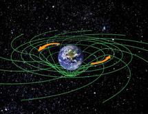 Representación del arrastre del espacio-tiempo. | NASA