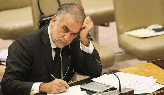 El fiscal jefe del TPI, Luis Moreno-Ocampo, en la sede de la ONU en Nueva York. | Afp