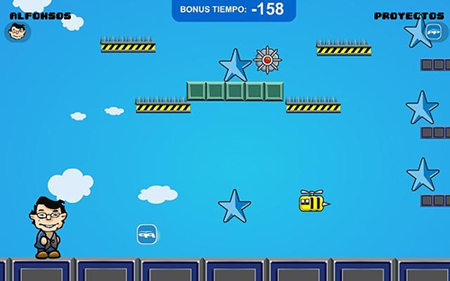 Una de las pantallas del juego interactivo de Mañueco.