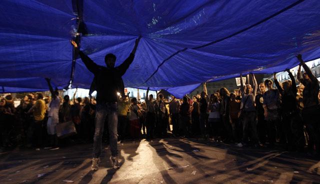 Manifestación en la Puerta del Sol. | Javier Barbancho