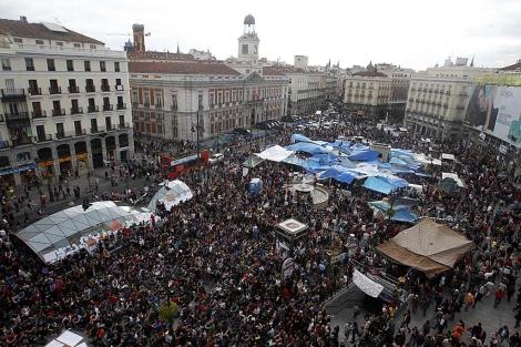 Vista aérea de la Puerta del Sol. en Madrid. | Javier Barbancho