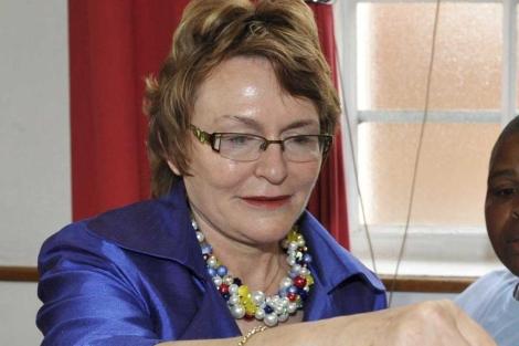 La líder de Alianza Democrática, Helen Zille, en Ciudad del Cabo. | Efe