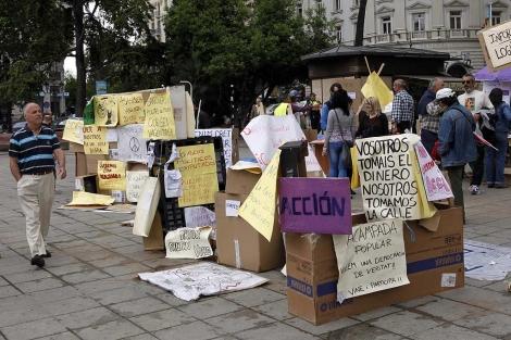 El campamento del movimiento 15-M en Valencia.   Vicent Bosch