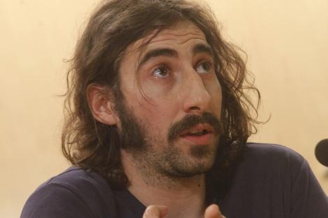 Manu Brabo, durante la rueda de prensa en España. | O. Monzón