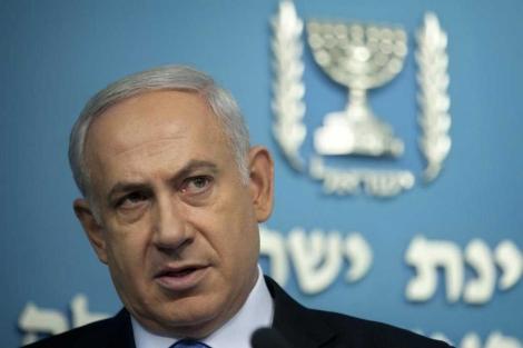 Benjamin Netanyahu, en una rueda de prensa en Jerusalén. | Ap