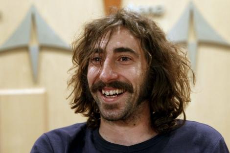 Manu Brabo, durante la rueda de prensa en España.   Efe