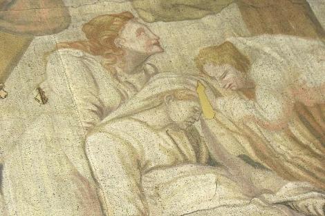 Detalle de la pintura que representa El Descendimiento. | Diócesis de León