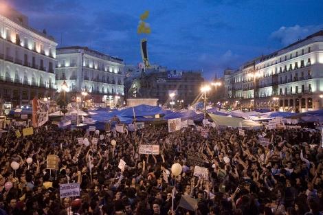 La Puerta del Sol, horas antes de la jornada de reflexión. | Roberto Cárdenas