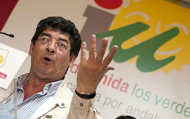 Diego Valderas durante su comparecencia para comentar los resultados electorales. | Efe