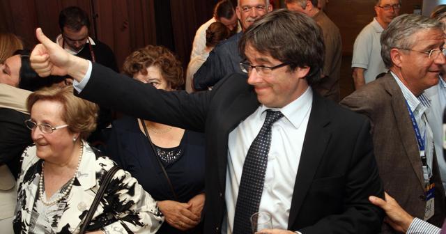Carles Puigdemont celebra su victoria. | Efe