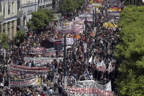 Manifestación en Atenas. | Afp