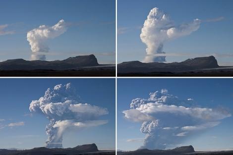 Cuatro imágenes de la erupción del Grimsvotn. | Reuters