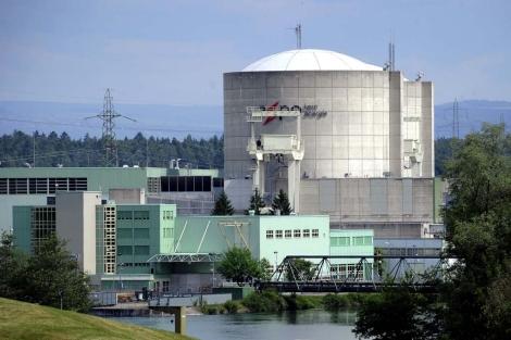 Beznau, la planta nuclear más antigua de Suiza.   Afp