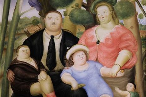 Obra 'Una familia', de Fernando Botero.