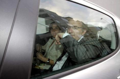 Joaquín Varela, a su salida del juzgado este jueves a última hora.   Efe